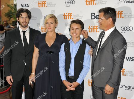 (l-r) Canadian Director Jason Reitman English Actor Kate Winslet Us Actor Gattlin Griffith and Us Actor Josh Brolin Arrive For the Screening of 'Labor Day' During the 38th Annual Toronto Film Festival in Toronto Canada 07 September 2013 the Festival Runs Until 15 September Canada Toronto