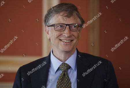 Microsoft Co-founder and Philanthropist Bill Gates Smiles During His Meeting with Canada's Governor General David Johnston (not Pictured) at Rideau Hall in Ottawa Canada 25 February 2015 Gates is in Ottawa to Meet with Prime Minister Stephen Harper to Discuss Global Efforts to Improve the Health of Mothers and Children in Low-income Countries Canada Ottawa