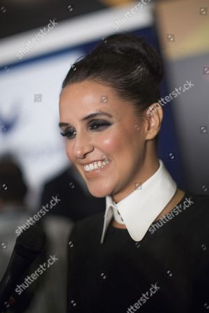 Indian Actress Neha Dhupia Talks to Members of the Media As She Arrives For the International Indian Film Academy Awards (iifa) in Macau China 05 July 2013 the 14th Edition of the Iifa Awards Commemorates 100 Years of Indian Cinema and Runs From 04 to 06 July China Macau
