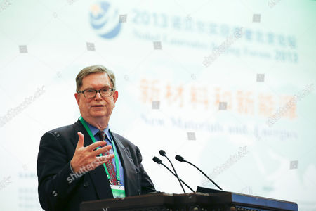 Us Nobel Laureate George Smoot Delivers His Speech During the Opening Ceremony of the Nobel Laureates Beijing Forum Held at the Great Hall of the People in Beijing China 10 September 2013 the Theme of This Year's Strategic Forum is 'New Materials and Energy ' Guests of the 2013 Forum Include Nobel Laureates Edmund Phelps George Smoot James Mirrlees Robert Mundell As Well As Four Renowned Scientists China Beijing