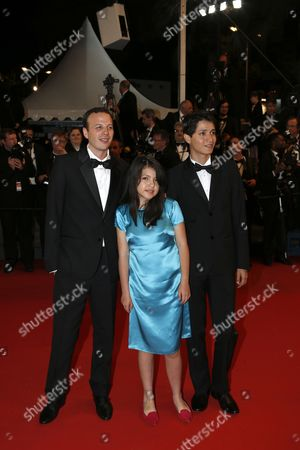 (l-r) Mexican Director Amat Escalante Actress Andrea Vergara and Actor Armando Espitia Arrive For the Screening of 'Heli' During the 66th Annual Cannes Film Festival in Cannes France 16 May 2013 the Movie is Presented in the Official Competition of the Festival Which Runs From 15 to 26 May France Cannes