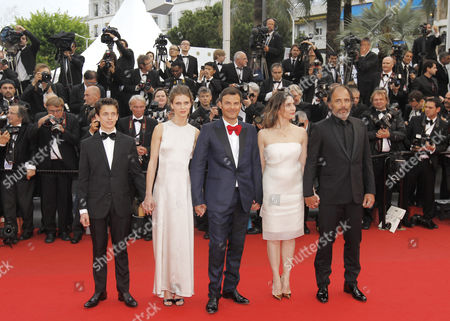 (l-r) French Actor Fantin Ravat French Actress Marine Vacth French Director Francois Ozon French Actress Geraldine Pailhas and French Actor Frederic Pierrot Arrive For the Screening of 'Jeune & Jolie' (young & Beautiful) During the 66th Annual Cannes Film Festival in Cannes France 16 May 2013 the Movie is Presented in the Official Competition of the Festival Which Runs From 15 to 26 May France Cannes