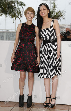 (l-r) Japanese Actress Yoko Maki and Japanese Actress Machiko Ono Pose During the Photocall For 'Soshite Chichi Ni Naru' (like Father Like Son) at the 66th Annual Cannes Film Festival in Cannes France 18 May 2013 the Movie is Presented in the Official Competition of the Festival Which Runs From 15 to 26 May France Cannes