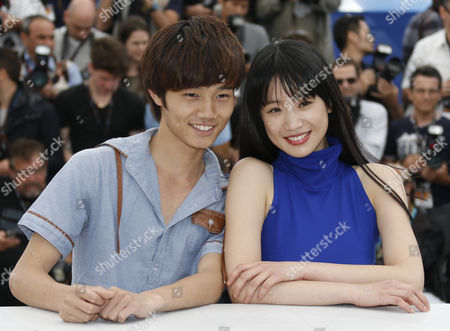 Chinese Actors Lanshan Luo (l) and Meng Li (r) Pose During the Photocall For 'Tian Zhu Ding' (a Touch of Sin) at the 66th Annual Cannes Film Festival in Cannes France 17 May 2013 the Movie is Presented in the Official Competition of the Festival Which Runs From 15 to 26 May France Cannes