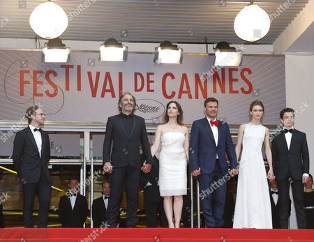 (2nd L-r) French Actor Frederic Pierrot French Actress Geraldine Pailhas French Director Francois Ozon French Actress Marine Vacth and French Actor Fantin Ravat Arrive For the Screening of 'Jeune & Jolie' (young & Beautiful) During the 66th Annual Cannes Film Festival in Cannes France 16 May 2013 the Movie is Presented in the Official Competition of the Festival Which Runs From 15 to 26 May France Cannes