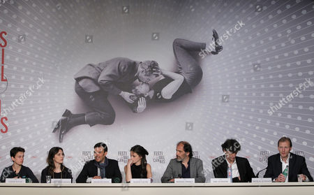 (l-r) French Actor Fantin Ravat French Actress Geraldine Pailhas French Director Francois Ozon French Actress Marine Vacth French Actor Frederic Pierrot French Producers Eric Altmayer and Nicolas Altmayer Attend the Press Conference For 'Jeune & Jolie' (young & Beautiful) During the 66th Annual Cannes Film Festival in Cannes France 16 May 2013 the Movie is Presented in the Official Competition of the Festival Which Runs From 15 to 26 May France Cannes