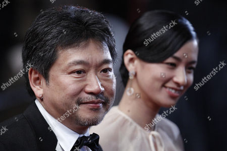 Japanese Director Hirokazu Kore-eda (l) and Japanese Actress Machiko Ono (r) Arrive For the Screening of 'Soshite Chichi Ni Naru' (like Father Like Son) During the 66th Annual Cannes Film Festival in Cannes France 18 May 2013 the Movie is Presented in the Official Competition of the Festival Which Runs From 15 to 26 May France Cannes