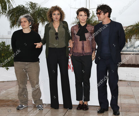 (l-r) Producer Viola Prestieri Italian Director Valeria Golino Italian Actress Jasmine Trinca and Italian Actor Riccardo Scamarcio Poses During the Photocall For 'Miele' at the 66th Annual Cannes Film Festival in Cannes France 18 May 2013 the Movie is Presented in the 'Un Certain Regard' Section of the Festival Which Runs From 15 to 26 May France Cannes