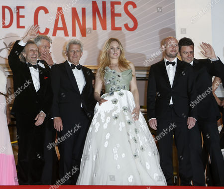 (l-r) Dutch Actor Jan Bijvoet Dutch Producer Marc Van Warmerdam Dutch Director Alex Van Warmerdam Dutch Actress Hadewych Minis and Flemish Actor Jeroen Perceval Arrive For the Screening of 'Borgman' During the 66th Annual Cannes Film Festival in Cannes France 19 May 2013 the Movie is Presented in the Official Competition of the Festival Which Runs From 15 to 26 May France Cannes