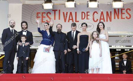 (l-r) Iranian Actor Ali Mosaffa French Actor Tahar Rahim Actor Elyes Aguis French Actress Berenice Bejo Iranian Director Asghar Farhadi French Producer Alexandre Mallet-guy French Actress Sabrina Ouazani Actress Jeanne Jestin and Belgian Actress Pauline Burlet Arrive For the Screening of 'Le Passe' (the Past) During the 66th Annual Cannes Film Festival in Cannes France 17 May 2013 the Movie is Presented in the Official Competition of the Festival Which Runs From 15 to 26 May France Cannes