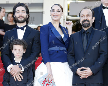 (l-r) French Actor Tahar Rahim Actor Elyes Aguis French Actress Berenice Bejo and Iranian Director Asghar Farhadi Arrive For the Screening of 'Le Passe' (the Past) During the 66th Annual Cannes Film Festival in Cannes France 17 May 2013 the Movie is Presented in the Official Competition of the Festival Which Runs From 15 to 26 May France Cannes
