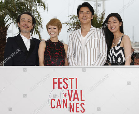 (l-r) Japanese Actor Lily Franky Japanese Actress Yoko Maki Japanese Actor Masaharu Fukuyama and Japanese Actress Machiko Ono Pose During the Photocall For 'Soshite Chichi Ni Naru' (like Father Like Son) at the 66th Annual Cannes Film Festival in Cannes France 18 May 2013 the Movie is Presented in the Official Competition of the Festival Which Runs From 15 to 26 May France Cannes