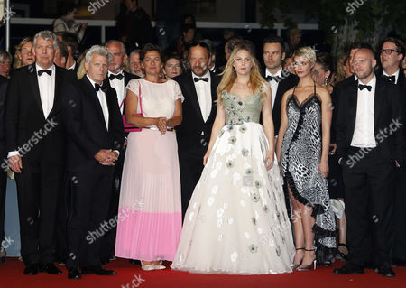 (l-r) Dutch Producer Marc Van Warmerdam Dutch Director Alex Van Warmerdam Dutch Actress Annet Malherbe Dutch Actress Hadewych Minis Danish Actress Sara Hjort Ditlevsen Flemish Actor Jeroen Perceval and Guests Arrive For the Screening of 'Borgman' During the 66th Annual Cannes Film Festival in Cannes France 19 May 2013 the Movie is Presented in the Official Competition of the Festival Which Runs From 15 to 26 May France Cannes