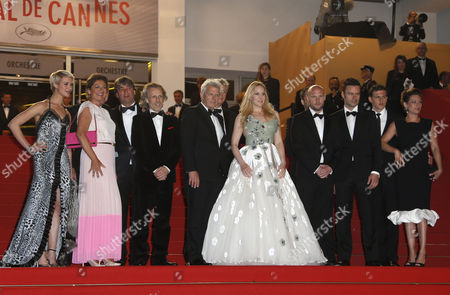 (l-r) Danish Actress Sara Hjort Ditlevsen Dutch Actress Annet Malherbe Dutch Actor Jan Bijvoet Dutch Director Alex Van Warmerdam Dutch Producer Marc Van Warmerdam Dutch Actress Hadewych Minis and Flemish Actor Jeroen Perceval and Guests Arrive For the Screening of 'Borgman' During the 66th Annual Cannes Film Festival in Cannes France 19 May 2013 the Movie is Presented in the Official Competition of the Festival Which Runs From 15 to 26 May France Cannes