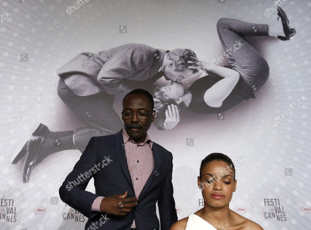 Chadian Director Mahamat-saleh Haroun (l) and French Actress Anais Monory (r) Attend the Press Conference For 'Grigris' During the 66th Annual Cannes Film Festival in Cannes France 22 May 2013 the Movie is Presented in the Official Competition of the Festival Which Runs From 15 to 26 May France Cannes