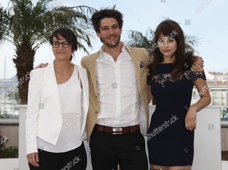 (l-r) Canadian Director Chloe Robichaud Canadian Actor Jean Sebastien Courchesne and Canadian Actress Sophie Desmarais Pose During the Photocall For 'Sarah Prefere La Course' (sarah Prefers to Run) at the 66th Annual Cannes Film Festival in Cannes France 21 May 2013 the Movie is Presented in the 'Un Certain Regard' Section of the Festival Which Runs From 15 to 26 May France Cannes