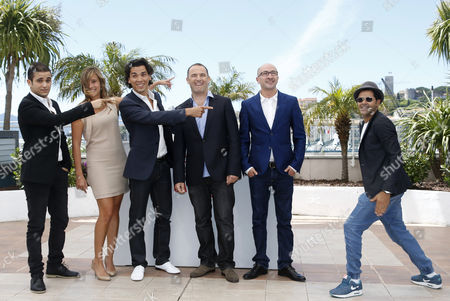 (l-r) French Actor Malik Bentalha French Actress Julie De Bona French Actor Tewfik Jallab Moroccan Director Mohamed Hamidi Actor Fatsah Bouyahmed and French Actor Jamel Debbouze Pose During the Photocall For 'Ne Quelque Part' at the 66th Annual Cannes Film Festival in Cannes France 21 May 2013 the Movie is Presented in the Special Screenings Section of the Festival Which Runs From 15 to 26 May France Cannes