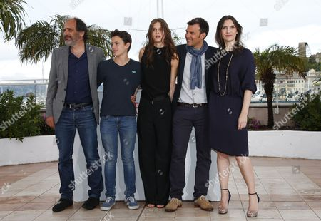 (l-r) French Actor Frederic Pierrot French Actor Fantin Ravat French Actress Marine Vacth French Director Francois Ozon and French Actress Geraldine Pailhas Pose During the Photocall For 'Jeune & Jolie' (young & Beautiful) at the 66th Annual Cannes Film Festival in Cannes France 16 May 2013 the Movie is Presented in the Official Competition of the Festival Which Runs From 15 to 26 May France Cannes