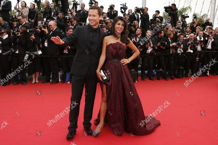 Canadian Actor Stephane Rousseau (l) and Partner Italian-tunisian Actress and Director Reem Kherici Arrive For the Screening of 'Jeune & Jolie' (young & Beautiful) During the 66th Annual Cannes Film Festival in Cannes France 16 May 2013 the Movie is Presented in the Official Competition of the Festival Which Runs From 15 to 26 May France Cannes