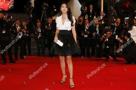 Chinese Actress Zhang Yuqi Arrives For the Screening of 'Tian Zhu Ding' (a Touch of Sin) During the 66th Annual Cannes Film Festival in Cannes France 17 May 2013 the Movie is Presented in the Official Competition of the Festival Which Runs From 15 to 26 May France Cannes