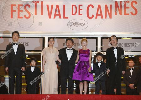 Japanese Actors Masaharu Fukuyama Keita Ninomiya Machiko Ono Director Hirokazu Kore-eda Actors Yoko Maki Shogen Whang and Lily Franky Arrive For the Screening of 'Soshite Chichi Ni Naru' (like Father Like Son) During the 66th Annual Cannes Film Festival in Cannes France 18 May 2013 the Movie is Presented in the Official Competition of the Festival Which Runs From 15 to 26 May France Cannes