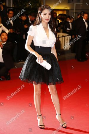 Stock Picture of Chinese Actress Zhang Yuqi Arrives For the Screening of 'Tian Zhu Ding' (a Touch of Sin) During the 66th Annual Cannes Film Festival in Cannes France 17 May 2013 the Movie is Presented in the Official Competition of the Festival Which Runs From 15 to 26 May France Cannes