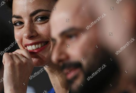 French Actress Berenice Bejo (l) and Iranian Actor Ali Mosaffa (r) Attend the Press Conference For 'Le Passe' (the Past) During the 66th Annual Cannes Film Festival in Cannes France 17 May 2013 the Movie is Presented in the Official Competition of the Festival Which Runs From 15 to 26 May France Cannes