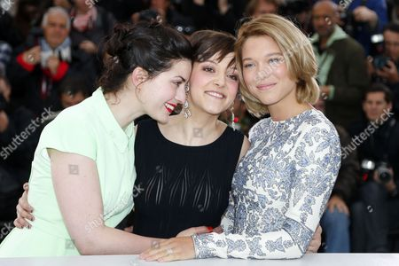 (l-r) French Director Rebecca Zlotowski French Actress Camille Lellouche and French Actress Lea Seydoux Pose During the Photocall For 'Grand Central' at the 66th Annual Cannes Film Festival in Cannes France 18 May 2013 the Movie is Presented in the 'Un Certain Regard' Section of the Festival Which Runs From 15 to 26 May France Cannes