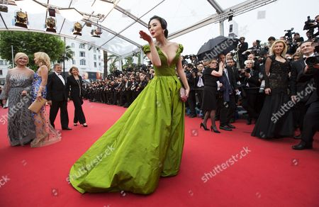 Chinese Actress Zhang Yuqi Arrives For the Screening of 'The Great Gatsby' and the Opening Ceremony of the 66th Annual Cannes Film Festival in Cannes France 15 May 2013 Presented out of Competition the Movie Open the Festival Which Runs From 15 to 26 May France Cannes