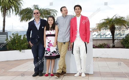 (l-r) Mexican Producer Jaime Romandia Actress Andrea Vergara Mexican Director Amat Escalante and Actor Armando Espitia Pose During the Photocall For 'Heli' at the 66th Annual Cannes Film Festival in Cannes France 16 May 2013 the Movie is Presented in the Official Competition of the Festival Which Runs From 15 to 26 May France Cannes
