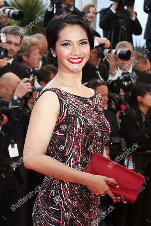 Stock Photo of Indonesian Actress Maudy Koesnadi Arrives For the Screening of 'Inside Llewyn Davis' During the 66th Annual Cannes Film Festival in Cannes France 19 May 2013 the Movie is Presented in the Official Competition of the Festival Which Runs From 15 to 26 May France Cannes