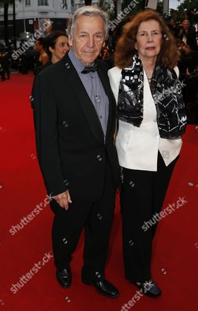 Greek French Director Constantin Costa-gavras (l) and His Wife Michele Ray-gavras (r) Arrive For the Screening of 'Jimmy P (psychotherapy of a Plains Indian)' During the 66th Annual Cannes Film Festival in Cannes France 18 May 2013 the Movie is Presented in the Official Competition of the Festival Which Runs From 15 to 26 May France Cannes