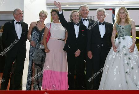 (2l-r) Danish Actress Sara Hjort Ditlevsen Dutch Actress Annet Malherbe Dutch Actor Jan Bijvoet Dutch Producer Marc Van Warmerdam Dutch Director Alex Van Warmerdam and Dutch Actress Hadewych Minis Arrive For the Screening of 'Borgman' During the 66th Annual Cannes Film Festival in Cannes France 19 May 2013 the Movie is Presented in the Official Competition of the Festival Which Runs From 15 to 26 May France Cannes
