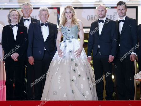 (l-2r) Dutch Actor Jan Bijvoet Dutch Producer Marc Van Warmerdam Dutch Director Alex Van Warmerdam Dutch Actress Hadewych Minis and Flemish Actor Jeroen Perceval Arrive For the Screening of 'Borgman' During the 66th Annual Cannes Film Festival in Cannes France 19 May 2013 the Movie is Presented in the Official Competition of the Festival Which Runs From 15 to 26 May France Cannes