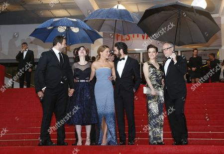 (l-r) French Actor Denis Menochet French Director Rebecca Zlotowski French Actress Lea Seydoux French Actor Tahar Rahim French Actress Camille Lellouche and Thierry Fremaux General Delegate of the Festival Arrive For the Screening of 'Jimmy P (psychotherapy of a Plains Indian)' During the 66th Annual Cannes Film Festival in Cannes France 18 May 2013 the Movie is Presented in the Official Competition of the Festival Which Runs From 15 to 26 May Epa/ian Langsdon France Cannes