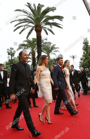 (l-r) French Actor Frederic Pierrot French Actress Geraldine Pailhas French Director Francois Ozon and French Actress Marine Vacth Arrive For the Screening of 'Jeune & Jolie' (young & Beautiful) During the 66th Annual Cannes Film Festival in Cannes France 16 May 2013 the Movie is Presented in the Official Competition of the Festival Which Runs From 15 to 26 May France Cannes