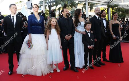 (l-r) French Producer Alexandre Mallet-guy French Actress Berenice Bejo Actress Jeanne Jestin Iranian Director Asghar Farhadi Belgian Actress Pauline Burlet Actor Elyes Aguis Iranian Actor Ali Mosaffa French Actor Tahar Rahim and French Actress Sabrina Ouazani Arrive For the Screening of 'Le Passe' (the Past) During the 66th Annual Cannes Film Festival in Cannes France 17 May 2013 the Movie is Presented in the Official Competition of the Festival Which Runs From 15 to 26 May France Cannes