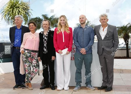 (l-r) Dutch Producer Marc Van Warmerdam Dutch Actress Annet Malherbe Dutch Actor Jan Bijvoet Dutch Actress Hadewych Minis Flemish Actor Jeroen Perceval and Dutch Director Alex Van Warmerdam Pose During the Photocall For 'Borgman' at the 66th Annual Cannes Film Festival in Cannes France 19 May 2013 the Movie is Presented in the Official Competition of the Festival Which Runs From 15 to 26 May France Cannes
