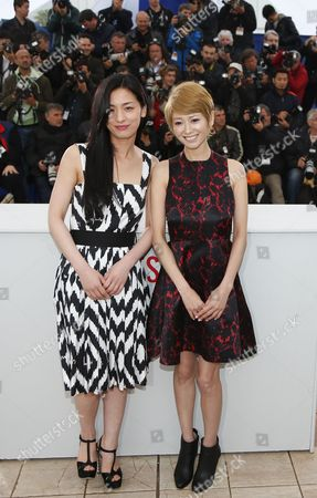 Stock Photo of (l-r) Japanese Actress Machiko Ono and Japanese Actress Yoko Maki Pose During the Photocall For 'Soshite Chichi Ni Naru' (like Father Like Son) at the 66th Annual Cannes Film Festival in Cannes France 18 May 2013 the Movie is Presented in the Official Competition of the Festival Which Runs From 15 to 26 May France Cannes