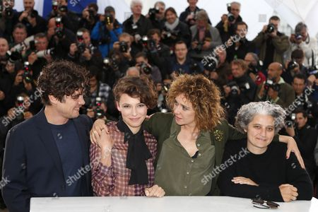(l-r) Italian Actor Riccardo Scamarcio Italian Actress Jasmine Trinca Italian Director Valeria Golino and Producer Viola Prestieri Pose During the Photocall For 'Miele' at the 66th Annual Cannes Film Festival in Cannes France 18 May 2013 the Movie is Presented in the 'Un Certain Regard' Section of the Festival Which Runs From 15 to 26 May France Cannes