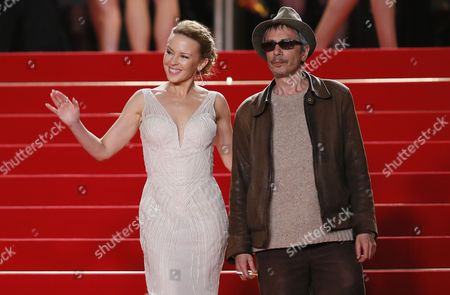 Australian Singer Kylie Minogue (l) and French Director Leos Carax (r) Arrive For the Screening of 'La Grande Bellezza' (the Great Beauty) During the 66th Annual Cannes Film Festival in Cannes France 21 May 2013 the Movie is Presented in the Official Competition of the Festival Which Runs From 15 to 26 May France Cannes