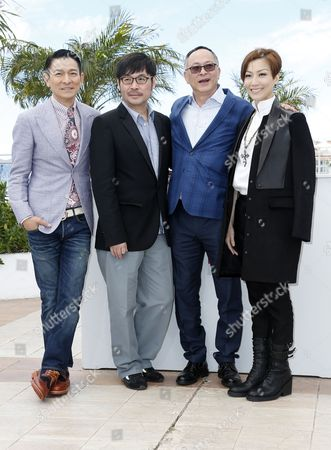 (l-r) Hong Kong Actor Andy Lau Hong Kong Actor Wai Ka-fai Hong Kong Director Johnnie to and Hong Kong Actress Sammi Cheng Pose During the Photocall For 'Blind Detective' at the 66th Annual Cannes Film Festival in Cannes France 20 May 2013 the Movie is Presented out of Competition at the Festival Which Runs From 15 to 26 May France Cannes
