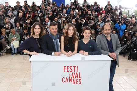 (l-r) French Actress Geraldine Pailhas French Director Francois Ozon French Actress Marine Vacth French Actor Fantin Ravat and French Actor Frederic Pierrot Pose During the Photocall For 'Jeune & Jolie' (young & Beautiful) at the 66th Annual Cannes Film Festival in Cannes France 16 May 2013 the Movie is Presented in the Official Competition of the Festival Which Runs From 15 to 26 May France Cannes