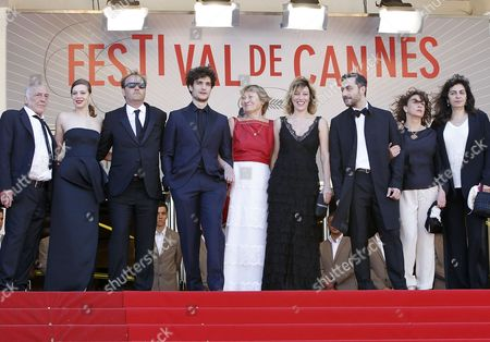 (l-r) French Actor Andre Wilms French Actress Celine Sallette French Actor Xavier Beauvois French Actor Louis Garrel Italian Actress Marisa Borini Her Daughter French Actress/director Valeria Bruni Tedeschi Italian Actor Filippo Timi French Writer Noemie Lvovsky and Guest Arrive For the Screening of 'Un Chateau En Italie' (a Castle in Italy) During the 66th Annual Cannes Film Festival in Cannes France 20 May 2013 the Movie is Presented in the Official Competition of the Festival Which Runs From 15 to 26 May France Cannes