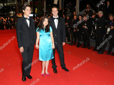 Mexican Director Amat Escalante (r) Actress Andrea Vergara (c) and Actor Armando Espitia (l) Arrive For the Screening of 'Heli' During the 66th Annual Cannes Film Festival in Cannes France 16 May 2013 the Movie is Presented in the Official Competition of the Festival Which Runs From 15 to 26 May France Cannes