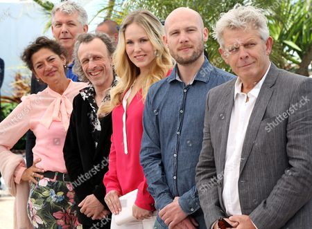 (l-r) Dutch Actress Annet Malherbe Dutch Actor Jan Bijvoet Dutch Actress Hadewych Minis Flemish Actor Jeroen Perceval and Dutch Director Alex Van Warmerdam Pose During the Photocall For 'Borgman' at the 66th Annual Cannes Film Festival in Cannes France 19 May 2013 the Movie is Presented in the Official Competition of the Festival Which Runs From 15 to 26 May France Cannes