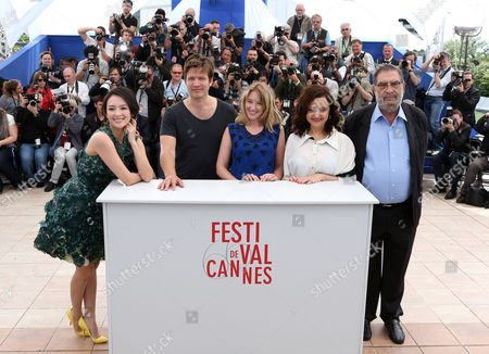 (l-r) Jury Members Chinese Actress Zhang Ziyi Danish Director Thomas Vinterberg French Actress Ludivine Sagnier Head of Festival Do Rio Ilda Santiago and Spanish Producer Enrique Gonzalez Macho Pose During the Photocall of the 'Un Certain Regard' Jury at the 66th Annual Cannes Film Festival in Cannes France 16 May 2013 the Festival Runs From 15 to 26 May France Cannes