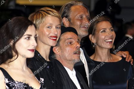 (l-r) French Actress Amira Casar French Actress Delphine Chuillot French Actor Denis Lavant Danish Actor Mads Mikkelsen and Wife Hanne Jacobsen Arrive For the Screening of 'Michael Kohlhaas' During the 66th Annual Cannes Film Festival in Cannes France 24 May 2013 the Movie is Presented in the Official Competition of the Festival Which Runs From 15 to 26 May France Cannes