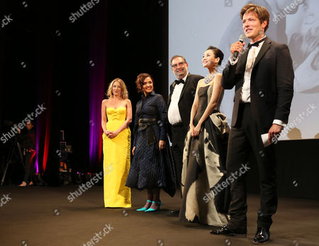 (l-r) Jury Members French Actress Ludivine Sagnier Head of Festival Do Rio Ilda Santiago Spanish Producer Enrique Gonzalez Macho Chinese Actress Zhang Ziyi and Danish Director Thomas Vinterberg Stand on Stage During the 'Un Certain Regard' Opening Ceremony at the 66th Annual Cannes Film Festival in Cannes France 16 May 2013 the Festival Runs From 15 to 26 May France Cannes