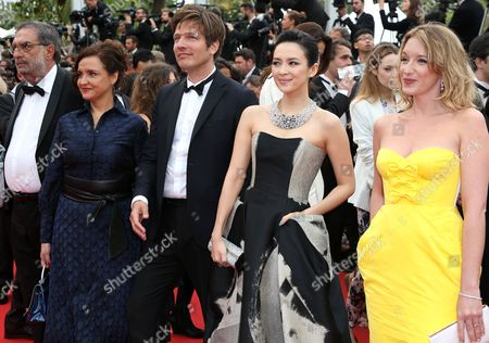(l-r) 'Un Certain Regard' Jury Members Spanish Producer Enrique Gonzalez Macho Head of Festival Do Rio Ilda Santiago Danish Director Thomas Vinterberg Chinese Actress Zhang Ziyi and French Actress Ludivine Sagnier Arrive For the Screening of 'Jeune & Jolie' (young & Beautiful) During the 66th Annual Cannes Film Festival in Cannes France 16 May 2013 the Movie is Presented in the Official Competition of the Festival Which Runs From 15 to 26 May France Cannes